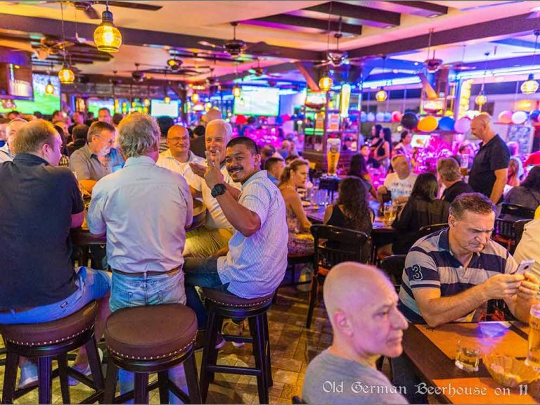People enjoying themselves at Old German Beerhouse Soi 11