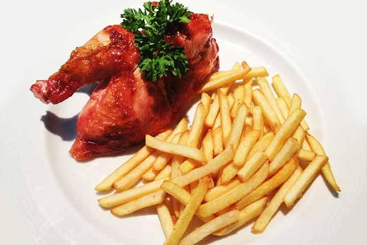 Half-chicken-on-the-spit