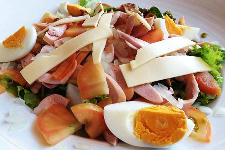Sausage-salad